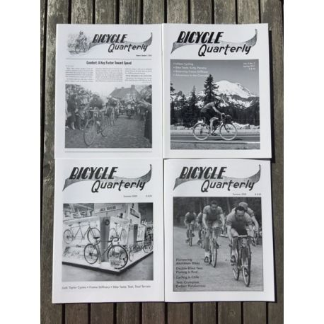 """Bicycle Quarterly 4-Pack / Rigidité des cadres et """"planning"""""""
